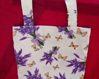 Nákupní taška - levandule s motýly