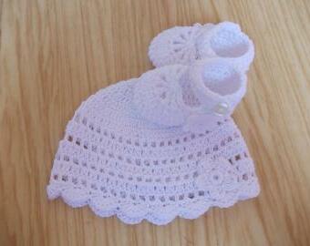 Háčkovaná soupravička bavlna