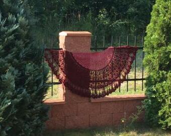Maxi šátek Květy fuchsií