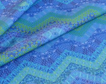 Bavlněná látka - Modrozelená