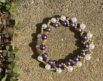 Náramek - voskové perly