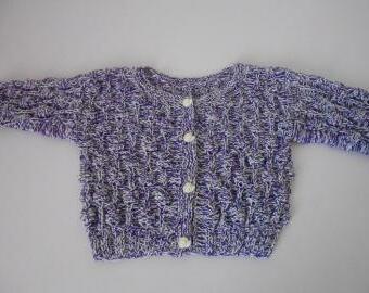 Ručně pletený svetřík s merinem