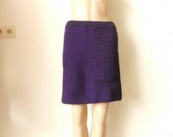 Dámská pletená minisukně s vlnou