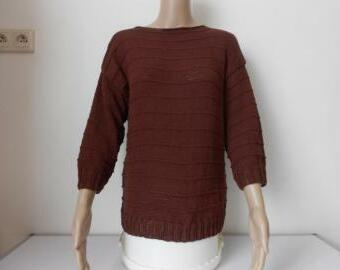 Dámský ručně pletený svetřík - halenka