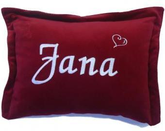 Polštářek se jménem nejen pro Jany (30x40 cm)