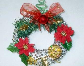 vánoční věnec na pověšení