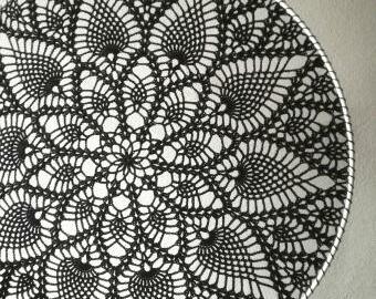 Krajka do lapače snů 40 cm - černá