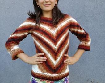 Pletený svetřík dětský (7-9 let)