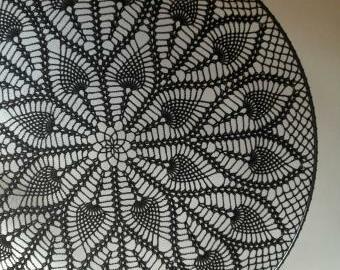 Krajka do lapače snů - 50 cm (černá)