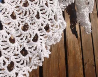 Lehoučký jak sněhová vločka - šátek