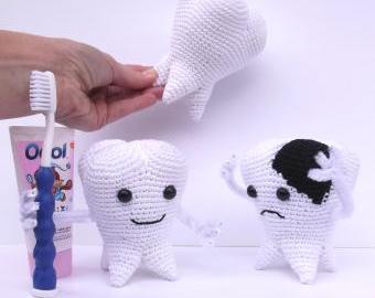 Zubní sada (velká) - dekorace do zubní ordinace
