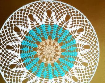 Krajka do lapače snů - 35 cm - kombinace tří barev