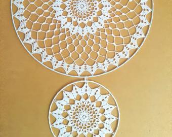 Krajky do lapače snů (sada 2 kusy) - 40 cm + 20 cm