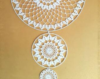 Krajky do lapače snů (sada 3 kusy) - 40 cm + 20 cm + 10 cm