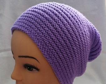 Dámská čepice fialová