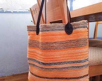 Tkaná taška oranž
