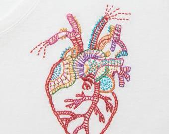 Srdce na pravém místě - vyšívací sada