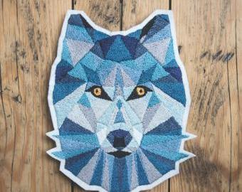 Geometrický vlk - vyšívací sada