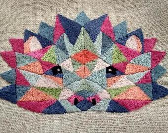 Geometrický ježek - vyšívací sada
