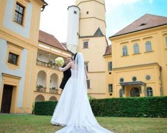 Dlouhý, třpytivý, svatební závoj - 3m