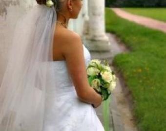 Svatební závoj bílý nebo ivory