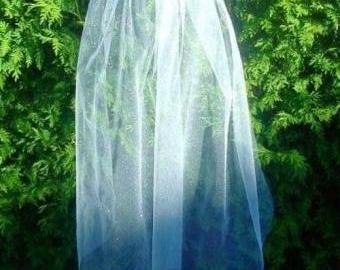Svatební, bílý, třpytivý závoj