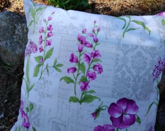 Polštář Fialové květy
