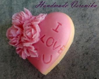 Mýdlo s motivem srdce ¨I love U¨
