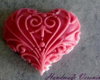 Mýdlo s motivem srdce