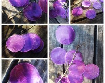 Dekorační placky - fialová